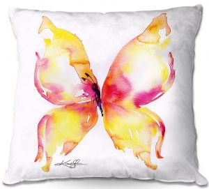 Throw Pillows Decorative Artistic   Kathy Stanion - Butterfly Fantasy I