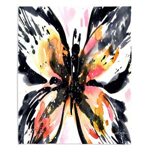 Decorative Fleece Throw Blankets | Kathy Stanion - Butterfly Magic VII | Nature Insects
