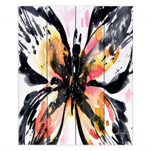 Decorative Wood Plank Wall Art   Kathy Stanion - Butterfly Magic VII   Nature Insects