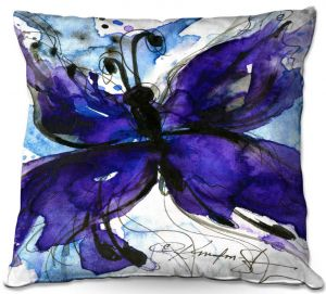 Throw Pillows Decorative Artistic | Kathy Stanion Butterfly Song no. IV