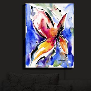 Nightlight Sconce Canvas Light   Kathy Stanion - Butterfly Song LII   Whimsical Butterfly