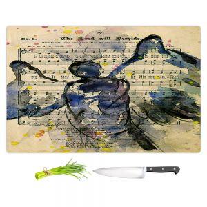 Artistic Kitchen Bar Cutting Boards | Kathy Stanion - Calling All Angels XLIII