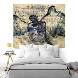 Artistic Wall Tapestry   Kathy Stanion - Calling All Angels XLIII
