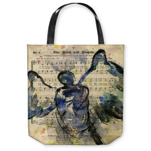 Unique Shoulder Bag Tote Bags |Kathy Stanion - Calling All Angels XLIII