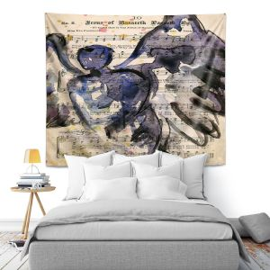 Artistic Wall Tapestry   Kathy Stanion - Calling All Angels XLIV