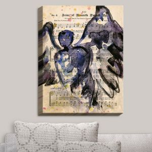 Decorative Canvas Wall Art | Kathy Stanion - Calling All Angels XLIV | Sheet Music Angels Prayer