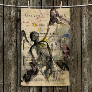 Unique Hanging Tea Towels | Kathy Stanion - Calling All Angels XLV | Sheet Music Angels Prayer