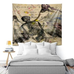 Artistic Wall Tapestry   Kathy Stanion - Calling All Angels XLV