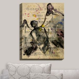 Decorative Canvas Wall Art | Kathy Stanion - Calling All Angels XLV | Sheet Music Angels Prayer