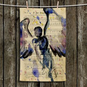 Unique Hanging Tea Towels | Kathy Stanion - Calling All Angels XLVII | Sheet Music Angels Prayer