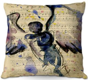 Decorative Outdoor Patio Pillow Cushion | Kathy Stanion - Calling All Angels XLVII