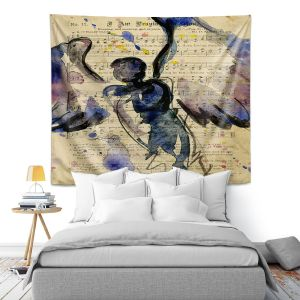 Artistic Wall Tapestry | Kathy Stanion - Calling All Angels XLVII