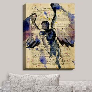 Decorative Canvas Wall Art | Kathy Stanion - Calling All Angels XLVII | Sheet Music Angels Prayer