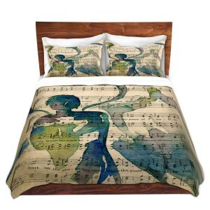 Artistic Duvet Covers and Shams Bedding | Kathy Stanion - Calling All Angels L