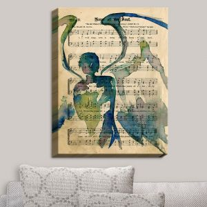Decorative Canvas Wall Art | Kathy Stanion - Calling All Angels L | Sheet Music Angels Prayer