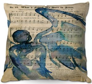 Decorative Outdoor Patio Pillow Cushion   Kathy Stanion - Calling All Angels LII