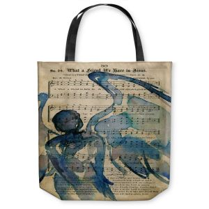 Unique Shoulder Bag Tote Bags |Kathy Stanion - Calling All Angels LII