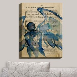Decorative Canvas Wall Art | Kathy Stanion - Calling All Angels LII | Sheet Music Angels Prayer