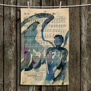 Unique Hanging Tea Towels | Kathy Stanion - Calling All Angels LV | Sheet Music Angels Prayer