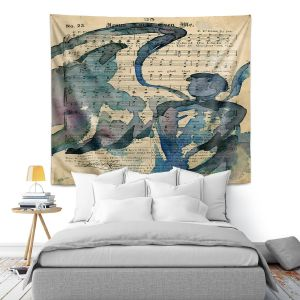 Artistic Wall Tapestry   Kathy Stanion - Calling All Angels LV