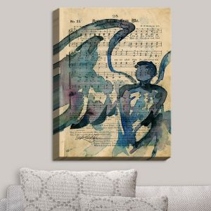 Decorative Canvas Wall Art | Kathy Stanion - Calling All Angels LV | Sheet Music Angels Prayer