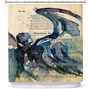 Premium Shower Curtains | Kathy Stanion - Calling All Angels LVI