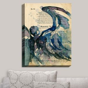 Decorative Canvas Wall Art | Kathy Stanion - Calling All Angels LVI | Sheet Music Angels Prayer
