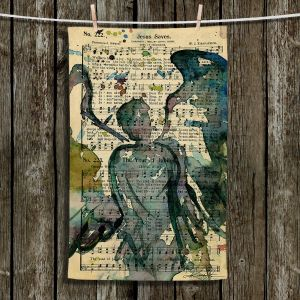 Unique Hanging Tea Towels | Kathy Stanion - Calling All Angels XLIX | Sheet Music Angels Prayer