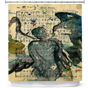 Premium Shower Curtains | Kathy Stanion - Calling All Angels XLIX