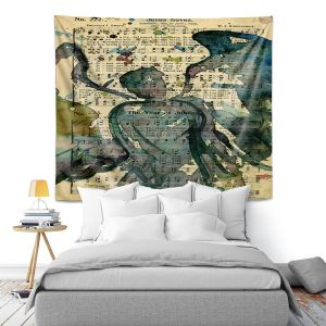 Artistic Wall Tapestry | Kathy Stanion - Calling All Angels XLIX
