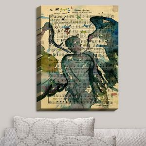 Decorative Canvas Wall Art | Kathy Stanion - Calling All Angels XLIX | Sheet Music Angels Prayer