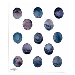 Artistic Sherpa Pile Blankets | Kathy Stanion - Circle Joy 2 | simple pattern geometric