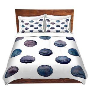 Artistic Duvet Covers and Shams Bedding | Kathy Stanion - Circle Joy 2 | simple pattern geometric