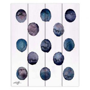 Decorative Wood Plank Wall Art   Kathy Stanion - Circle Joy 2   simple pattern geometric