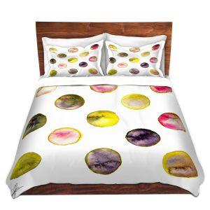 Artistic Duvet Covers and Shams Bedding | Kathy Stanion - Circle Joy 5 | simple pattern geometric