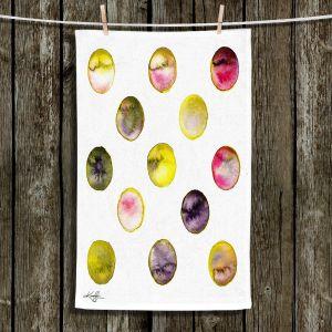 Unique Hanging Tea Towels | Kathy Stanion - Circle Joy 5 | simple pattern geometric