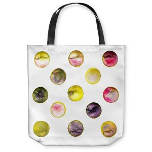 Unique Shoulder Bag Tote Bags | Kathy Stanion - Circle Joy 5 | simple pattern geometric