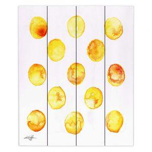 Decorative Wood Plank Wall Art | Kathy Stanion - Circle Joy 6 | simple pattern geometric