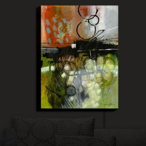 Nightlight Sconce Canvas Light | Kathy Stanion - Coddiwomple 05 | abstract brush strokes collage