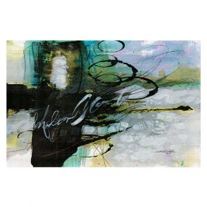 Decorative Floor Covering Mats | Kathy Stanion - Coddiwomple 09 | abstract brush strokes collage