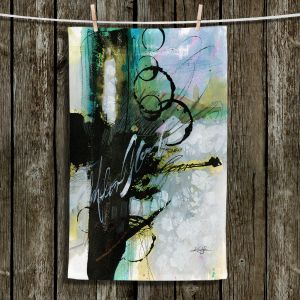 Unique Hanging Tea Towels | Kathy Stanion - Coddiwomple 09 | abstract brush strokes collage