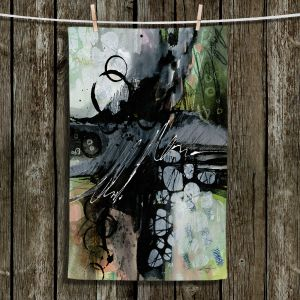 Unique Hanging Tea Towels | Kathy Stanion - Coddiwomple12 | abstract brush strokes collage