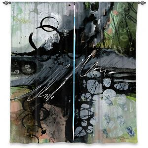 Decorative Window Treatments | Kathy Stanion - Coddiwomple12 | abstract brush strokes collage