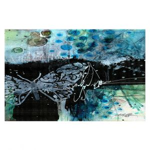 Decorative Floor Covering Mats | Kathy Stanion - Coddiwomple16 | abstract brush collage butterfly