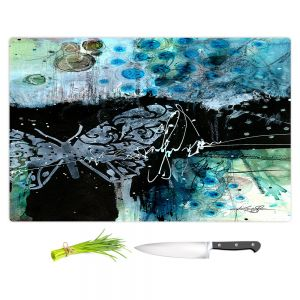 Artistic Kitchen Bar Cutting Boards   Kathy Stanion - Coddiwomple16   abstract brush collage butterfly