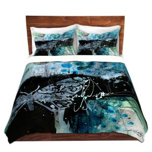 Artistic Duvet Covers and Shams Bedding | Kathy Stanion - Coddiwomple16 | abstract brush collage butterfly