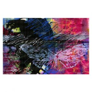 Decorative Floor Covering Mats | Kathy Stanion - Coddiwomple17 | abstract brush collage butterfly