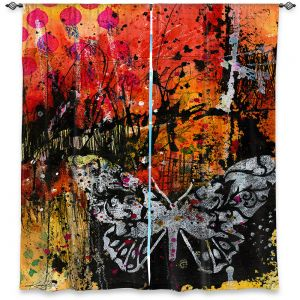 Decorative Window Treatments | Kathy Stanion - Coddiwomple18 | abstract brush collage butterfly