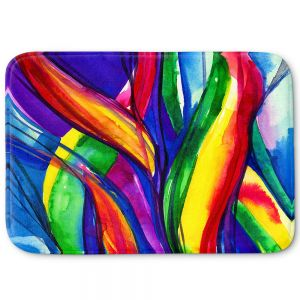 Decorative Bathroom Mats | Kathy Stanion - Color Dance of the Sea