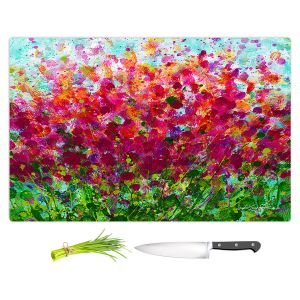 Artistic Kitchen Bar Cutting Boards | Kathy Stanion - Color Pop | Nature Abstract Landscape Flowers